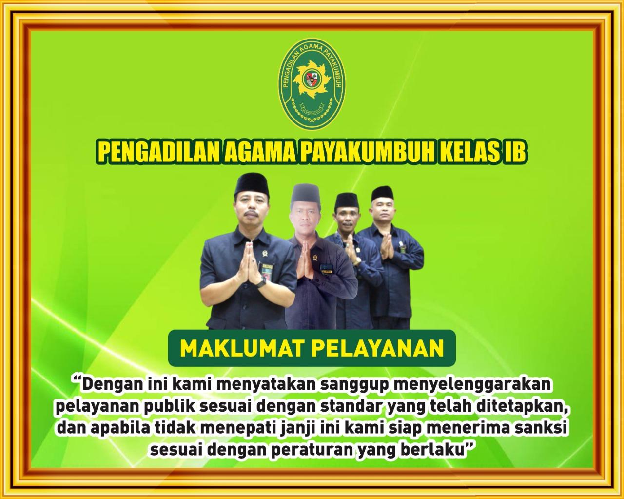 Maklumat Pelayanan Pengadilan Agama Payakumbuh